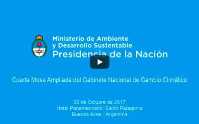 Cuarta Mesa Ampliada del Gabinete Nacional de Cambio Climático