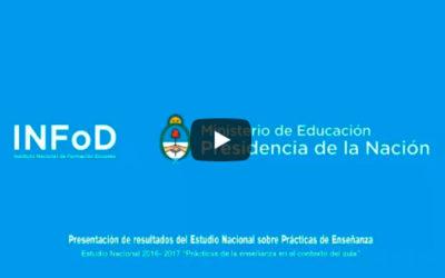 Presentación de resultados del Estudio Nacional sobre Prácticas de Enseñanza en contexto del aula