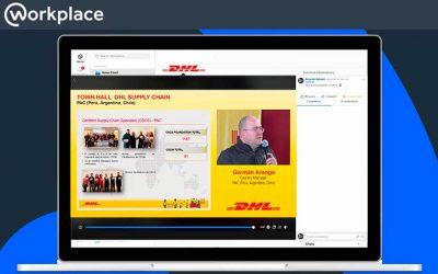 Transmisión en vivo por Facebook Workplace para comunicaciones internas
